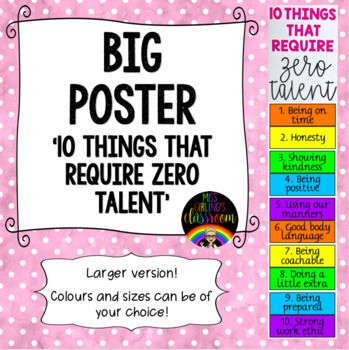10 Things That Require Zero Talent Big Poster Encouragement