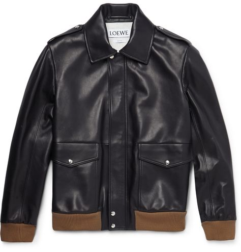 Awesome Vintage Custom Tailor GQ leather bomber jacket men\u2019s SM