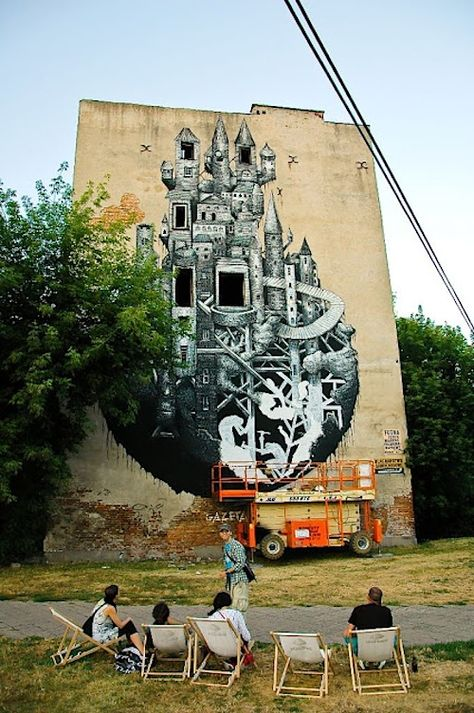 Streetart: New Mural by Phlegm in Warsaw // Poland (11 Pictures)