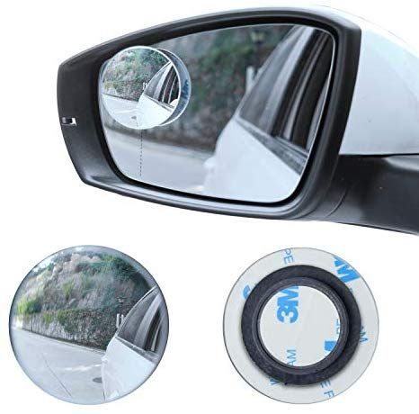 Livtee Blind Spot Mirror 2 Round Hd Glass Frameless Convex Rear View Mirror With Wide Angle Adjustable Stick For Cars Suv And Trucks Pack O In 2020 Rear View Mirror Rear