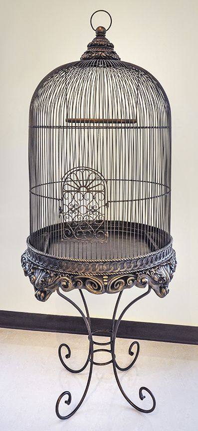Decorative Bird Cage With Stand Bronze Imperial Vogelkooi Decoratie Vogelkooi Vogelhuisje