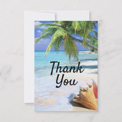 Beach Ocean Theme Thank You Card Zazzle Com Custom Thank You Cards Thank You Cards Ocean Themes