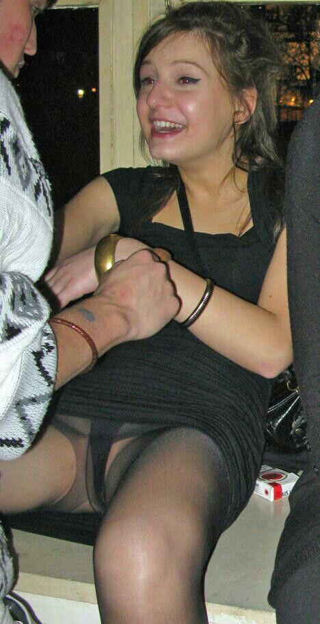 Upskirt Pantyhose At Weddings And Parties