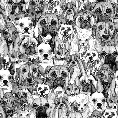 just dogs coral mint custom wallpaper by scrummy for sale on Spoonflower