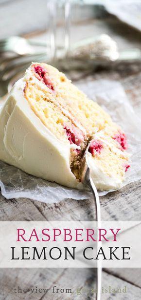My Raspberry Lemon Tea Cake recipe is a lemon layer cake made with yogurt, fresh raspberries, and a fresh lemon buttercream frosting. Cupcakes, Cupcake Cakes, Raspberry Lemon Cakes, Cake Recipes, Dessert Recipes, Dessert Ideas, Granny's Recipe, Oreo, Lemon Buttercream