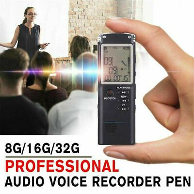 32GB Rechargeable Digital Audio//Sound//Voice Recorder Dictaphone MP3 Player USB
