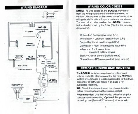 Scosche Loc2sl Wiring Diagram Best Of Line Out Converter Elvenlabs Instructions 0 Diagram Converter Wire