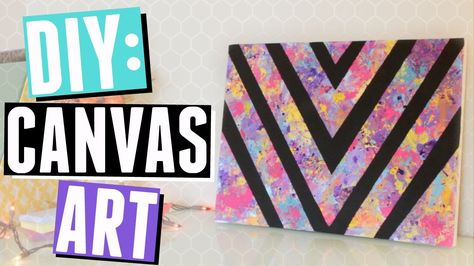 Bedroom DIY: Colorful Canvas Art!