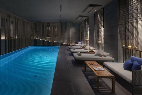 Indoor Swimming Pool With Extraordinary Design Ideas Indoor