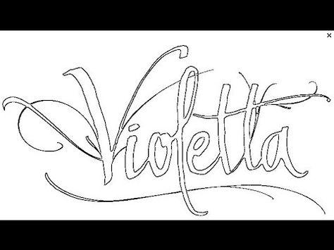 Como Dibujar A Violetta Florencia Saldana Malvorlagen Vorlagen Torten Deko