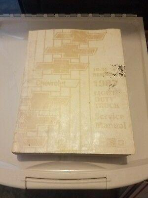 Advertisement Ebay 1987 Chevy Truck Service Manual Shop Repair Book Rare Original 10 30 Series In 2020 Chevy Trucks Repair 10 Things