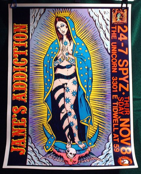 JANE'S ADDICTION Madonna Frank Kozik 1990 Not Screen Print Poster unflashed | Flickr - Photo Sharing!