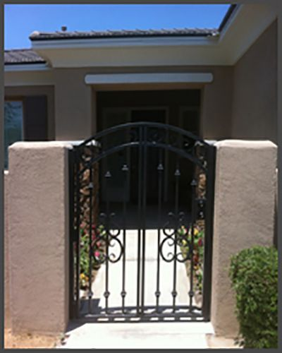 Pedestrian Gate Jpg 400 500 Pixels Precision Garage Doors Gate Outdoor Structures