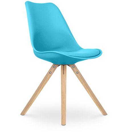 Sedia design scandinavo Deswin con cuscino - Plastica | Детали в ...