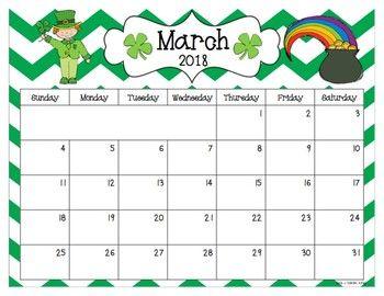 Kindergarten January 2021 Printable Calendar | Printable March