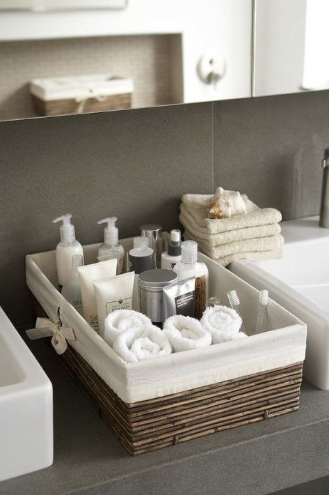 40 Quick and Easy Bathroom Storage Organization Ideas - Wc-Badezimmer - Bathroom DecorMost recent Screen guest Bathroom Storage Tips Soon after wise bathroom storage thoughts? Bathroom storage is actually essential for holding spaceShallow Lined Kobu Diy Bathroom, Small Bathroom Storage, Bathroom Organisation, Simple Bathroom, Home Organization, Bathroom Ideas, Bathroom Baskets, Organizing Ideas, Bathroom Cabinets