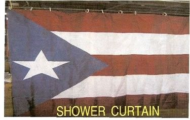The Puerto Rico Store Puerto Rico Flag Shower Curtain On Sale