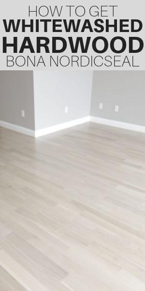 Whitewashed Hardwood Floors