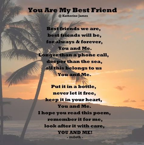 For your best poems friend girl Friendship Poems