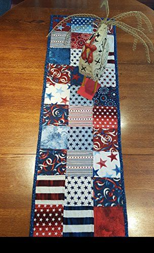 Terrific Oh My Stars Quilted Patriotic Table Runner Free Shipping Home Interior And Landscaping Eliaenasavecom