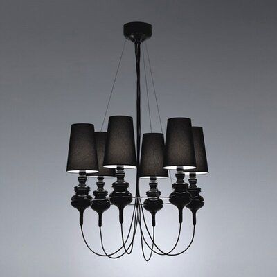 Mercer41 Ceasar 6 Light Shaded Classic Traditional Chandelier