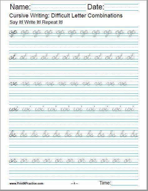 Free Cursive Handwriting This Product Has 5 Pages Of Cursive Ha Cursive Handwriting Practice Free Cursive Handwriting Practice Cursive Writing Practice Sheets