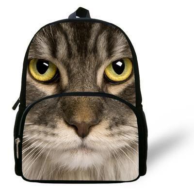 12 inch mochila infantil menina cat backpack animal prints kids school bags for boys animal backpack - Kids Animal Prints