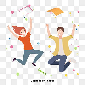 Cartoon Version Of Happy People Dance Cheer Girl Png And Vector With Transparent Background For Free Download Cute Little Boys Happy People People Having Fun