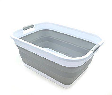 Amazon Com Sammart Collapsible Plastic Laundry Basket Foldable