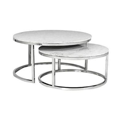 Nesting Tables In 2020 Marble Coffee Table Coffee Table Round Coffee Table Modern
