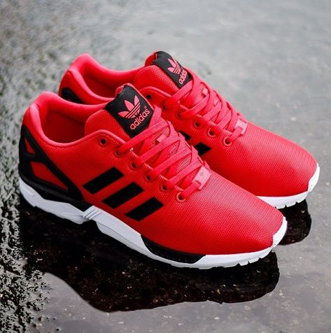 55f58b5049a0 Adidas ZX Flux - red black white