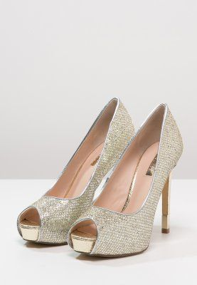 Guess Hadiely Czolenka Na Platformie Silver Zalando Pl Shoes Wedding Shoes Peep Toe