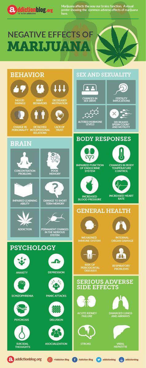 Negative, adverse effects of marijuana (INFOGRAPHIC)