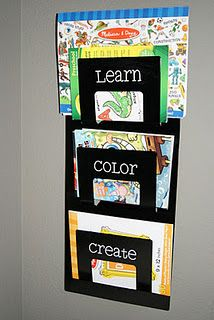 Coloring Book Storage - Home Design Ideas and Pictures