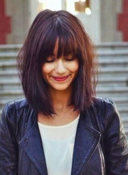 25 Top Hairstyles For Bob Haircuts With Bangs Reny Styles Coupe De Cheveux Coupe De Cheveux Courte Coupes De Cheveux Avec Frange