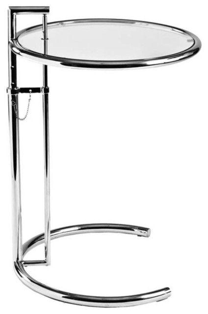 Verstellbarer Beistelltisch Beistelltisch Beistelltisch Glas Rundes Glas