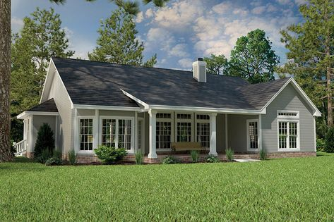 Country Style House Plan 3 Beds 2 Baths 1965 Sq Ft Plan 472 149 In 2020 Ranch House Plan Brick Exterior House Ranch Style Homes