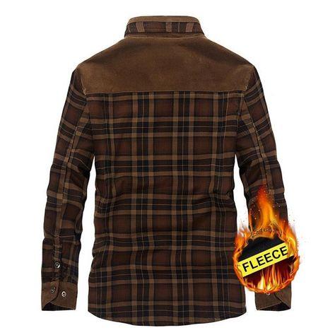 Sweatwater Men Regular Fit Long Sleeve Button Front Fleece Lined Shirts