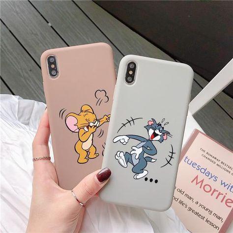 Cartoon Tom and Jerry For iPhone 6 S 7 8 Plus Case Fundas Silicon P – elega… Cartoon Tom und Jerry für iPhone …
