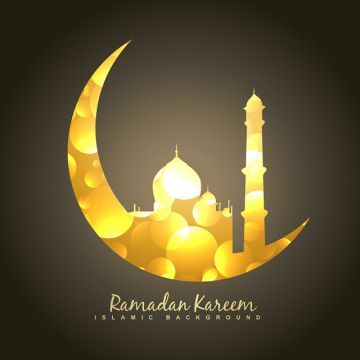 Golden Moon And Mosque Ramadan Islam Eid Png And Vector With