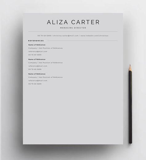 Creative Resume Template Minimalist Design Modern CV Clean
