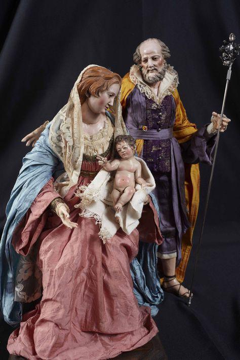 Sainte Famille crèche Napolitaine 6 cm style arabe