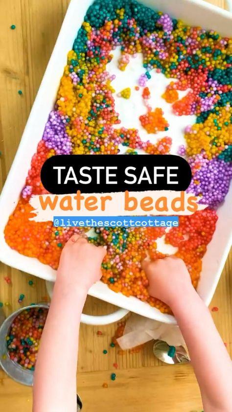 Taste Safe Water Beads Sensory Play