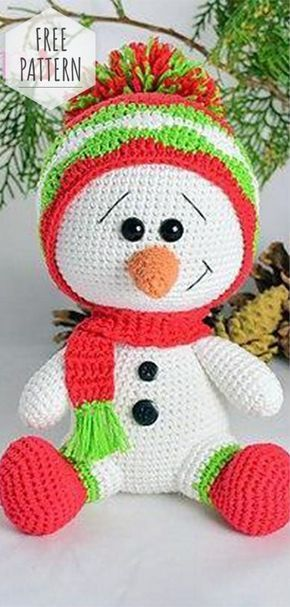 Free Pattern Amigurumi Snowman Christmas Crochet Patterns Holiday Crochet Crochet Amigurumi Free Patterns