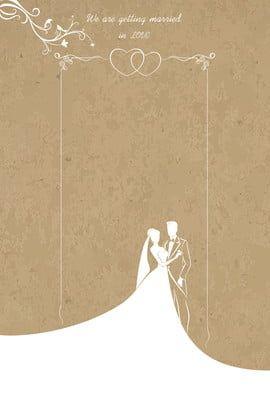 H5 Wedding Invitation Vector Background Material In 2020 Simple Wedding Invitation Card Cartoon Wedding Invitations Wedding Drawing