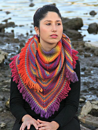 Weave Shawl This design is made using approximately 750 yds of DK-weight yarn, but other weights may be substituted.