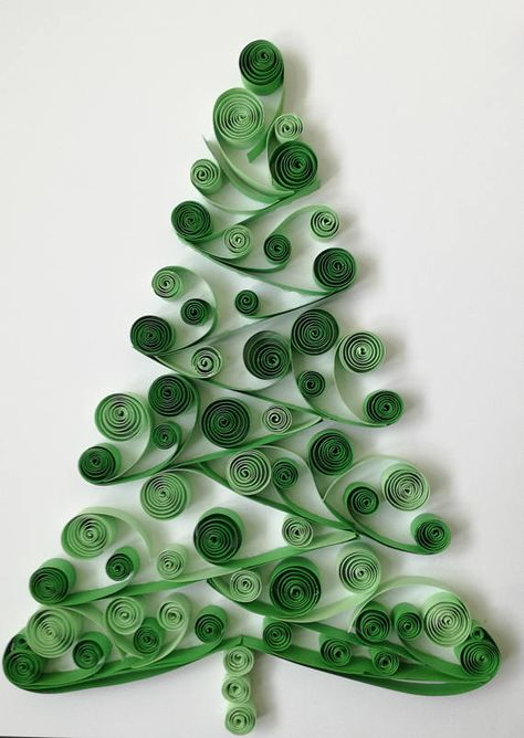 This piece is Christmas Tree made by technique Quilling. I am using color cardboard strips 10 mm ( 3.94 inc) wide and glue. The base is white - size is classical format A4. I hope You will like it! Regards