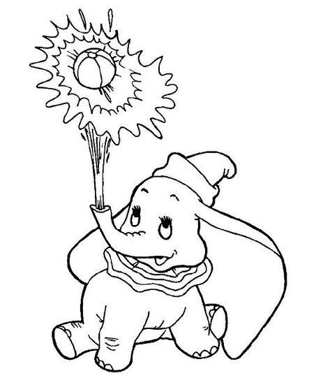 Dumbo Che Gioca Con L Acqua Disegni Da Colorare Disegni Da