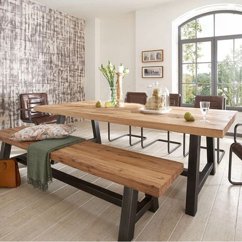 Mesa De Jantar Italiana …  Pinteres… Awesome Kitchen Table With A Bench Design Ideas