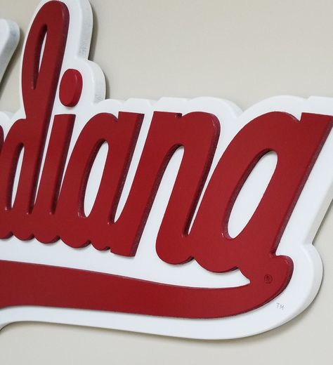 "Super Fan - Super Size  Indiana University Script Logo  39"" x 21 1/2"""